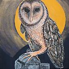 MASKED OWL BY MIRREE by artworkbymirree