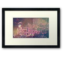 Holly Jolly Lights Framed Print
