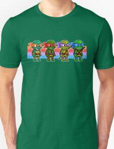 Teenage Mutant Ninja Turtles TMNT Pixel Stripes Unisex T-Shirt