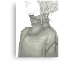 Turtleneck Sweater Canvas Print