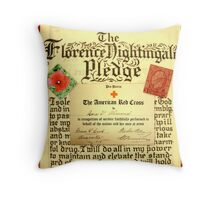 Nurse Themed Antique Collage Throw Pillow