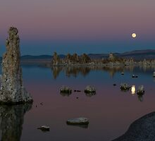 Moonrise over Mono Lake by Rick Ferens