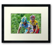 Contador V's Brajkovic Framed Print