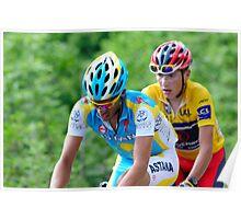Contador V's Brajkovic Poster
