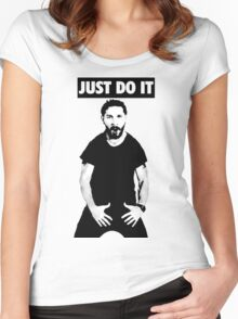 Shia LaBeouf Just Do It Women's Fitted Scoop T-Shirt