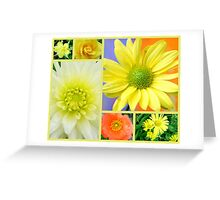 Yellow Flower Collage Greeting Card