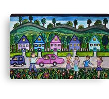 Town About Canvas Print