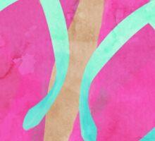 Flip Flops in the Sand - watercolor Sticker