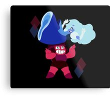 Ruby and Sapphire Metal Print