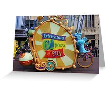 Pixar Parade in Disney California Adventure Monsters Inc Greeting Card