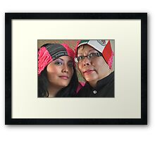 (543) Amsterdam Mexico and Mexican flag turban Framed Print