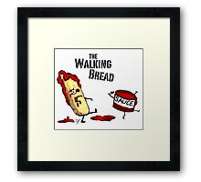 The Walking Bread Framed Print