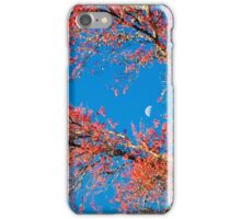 Moon, Spring Blossoms and Blue Sky iPhone Case/Skin