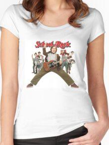 SCHOOL OF ROCK Women's Fitted Scoop T-Shirt