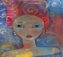 Red Haired Art Girl by Judy Skowron