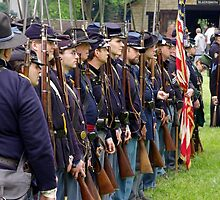 Union Troops in Formation by James Formo