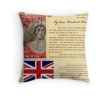 World War II Collage Throw Pillow