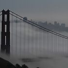 Golden Gate Bridge in the Fog by fototaker