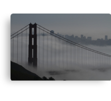 Golden Gate Bridge in the Fog Canvas Print