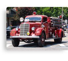 Mack 1938 Fire Truck Canvas Print