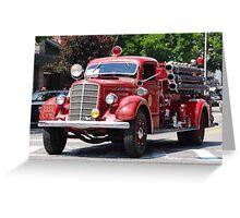 Mack 1938 Fire Truck Greeting Card