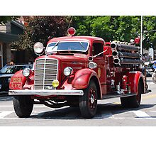Mack 1938 Fire Truck Photographic Print
