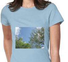 Blue Sky and Green Leaves Womens Fitted T-Shirt