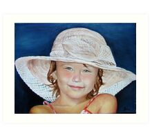 Little girl with hat Art Print