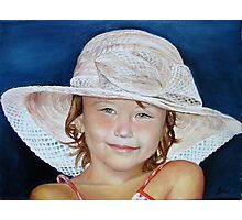 Little girl with hat Photographic Print
