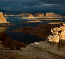 Alstrom Point and clearing storm, Lake Powell by Rick Ferens