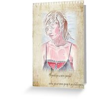 A Goodbye is never painful... Greeting Card