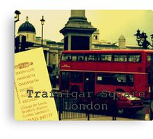 British Collage of Trafalgar Square Canvas Print