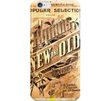 Antique Hymn Collage iPhone Case/Skin