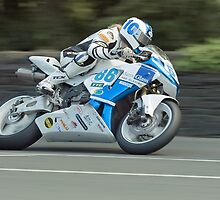 Woman rider at the TT! by Stephen Kane