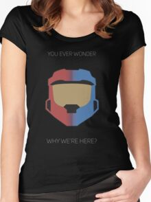 Red vs Blue Poster Women's Fitted Scoop T-Shirt