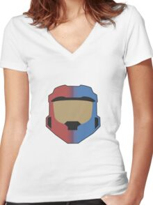 Red vs Blue Poster Women's Fitted V-Neck T-Shirt