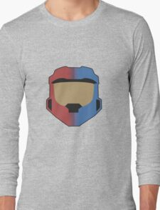 Red vs Blue Poster Long Sleeve T-Shirt