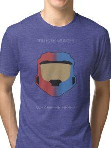 Red vs Blue Poster Tri-blend T-Shirt