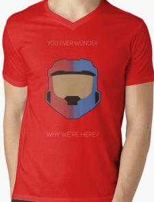 Red vs Blue Poster Mens V-Neck T-Shirt