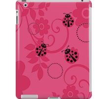 Pink Ladybugs iPad Case/Skin
