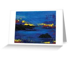 Blue Abstract Sea Greeting Card
