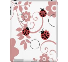 ladybugs and flowers iPad Case/Skin