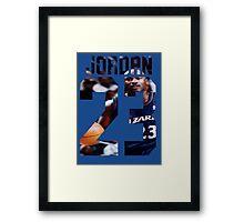 Jordan Nba Framed Print