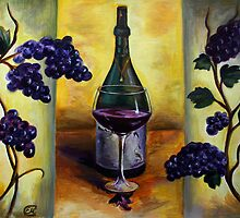 Grapes and Wine by Evgenia Attia