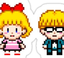 Earthbound Pixels - Ness, Paula, Jeff & Poo Sticker
