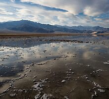 Badwater Basin after Rains by Rick Ferens
