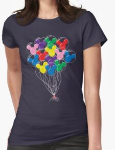 Mickey Balloons Womens Fitted T-Shirt