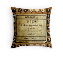 Antique Collage of Music and Machine Throw Pillow