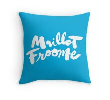 Maillot Froome : Sky Blue Throw Pillow