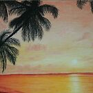 Sunset on the beach by Zlata Bajramovic
